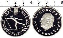 Изображение Монеты Норвегия 100 крон 1991 Серебро Proof