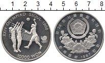 Изображение Монеты Южная Корея 10000 вон 1987 Серебро Proof-