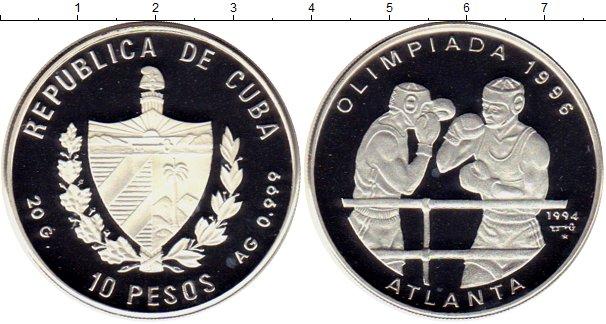 Картинка Подарочные монеты Куба 10 песо Серебро 1994