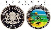 Изображение Монеты Сомали 25 долларов 1998 Серебро Proof
