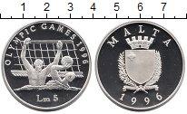 Изображение Монеты Мальта 5 лир 1996 Серебро Proof-