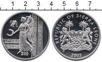 Изображение Монеты Сьерра-Леоне 10 долларов 2003 Серебро Proof-