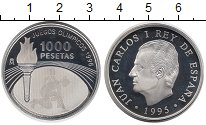 Изображение Монеты Испания 1000 песет 1995 Серебро Proof