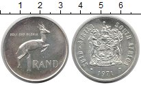 Изображение Монеты ЮАР 1 ранд 1971 Серебро UNC-