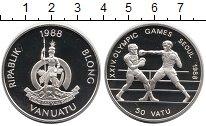 Изображение Монеты Вануату 50 вату 1988 Серебро Proof