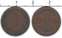 Изображение Дешевые монеты Германия 1 пфенниг 1928 Медь VF