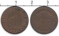 Изображение Дешевые монеты Германия 1 пфенниг 1934 Медь XF