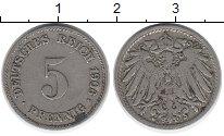 Изображение Дешевые монеты Германия 5 пфеннигов 1906 Медно-никель VF