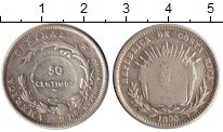 Изображение Монеты Коста-Рика 50 сентим 1890 Серебро VF
