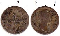 Изображение Монеты Германия Баден 3 крейцера 1837 Серебро VF