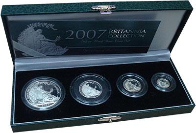 Изображение Подарочные монеты Великобритания Британния 2007 года 2007 Серебро Proof Набор Британния колл