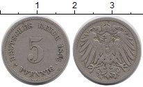 Изображение Монеты Германия 5 пфеннигов 1893 Медно-никель XF