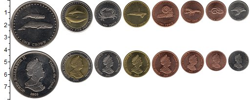 Изображение Наборы монет Тристан-да-Кунья Тристан-да-Кунья 2008 2008  UNC- В наборе 8 монет ном