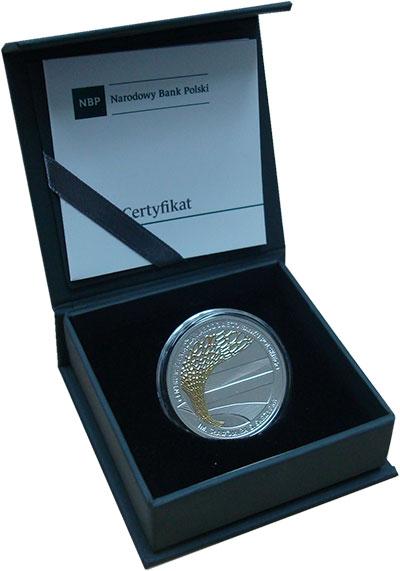 Изображение Подарочные монеты Польша 10 злотых 2016 Серебро Proof Центр денежных перев