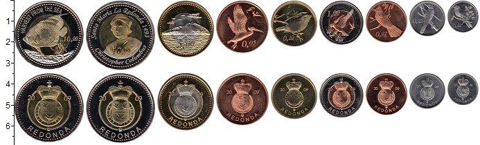 Изображение Наборы монет Редонда Редонда 2009 2009  XF <br>В наборе из 9 мо