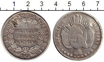 Изображение Монеты Боливия 1 боливиано 1868 Серебро XF