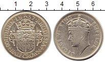 Изображение Монеты Великобритания Родезия 1/2 кроны 1937 Серебро XF-