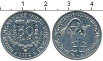 Изображение Монеты Французская Западная Африка 50 франков 1972 Медно-никель UNC-