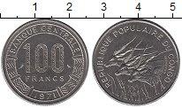 Изображение Монеты Конго 100 франков 1971 Медно-никель UNC-
