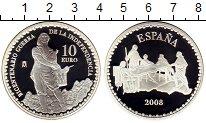 Изображение Монеты Испания 10 евро 2008 Серебро Proof
