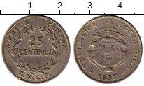 Изображение Монеты Коста-Рика 25 сентим 1937 Медно-никель XF