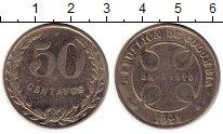 Изображение Монеты Колумбия 50 сентаво 1921 Медно-никель VF