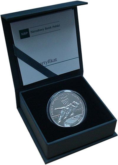 Изображение Подарочные монеты Польша 10 злотых 2018 Серебро Proof Польская олимпийская