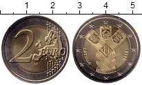 Изображение Мелочь Латвия 2 евро 2018 Биметалл UNC