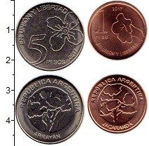 Изображение Наборы монет Аргентина Набор 2017 года 2017  UNC- Набор из двух монет,