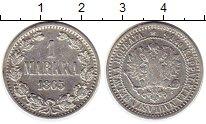 Изображение Монеты Финляндия 1 марка 1865 Серебро VF