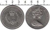 Изображение Монеты Великобритания Остров Мэн 1 крона 1977 Медно-никель UNC-