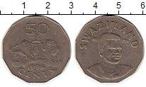 Изображение Монеты Свазиленд 50 центов 1996 Медно-никель XF