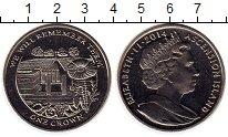 Изображение Монеты Остров Вознесения 1 крона 2014 Медно-никель UNC
