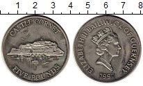 Изображение Монеты Великобритания Гернси 5 фунтов 1997 Медно-никель UNC-