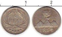 Изображение Монеты Гватемала 1/4 реала 1896 Серебро XF