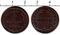 Изображение Монеты Швейцария 1/2 батзена 1799 Медь XF