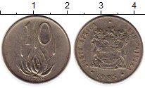 Изображение Монеты ЮАР 10 центов 1985 Медно-никель XF