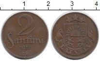 Изображение Монеты Латвия 2 сантима 1932 Бронза XF