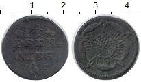 Изображение Монеты Германия Липпе-Детмольд 1 1/2 пфеннига 1821 Медь VF