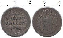 Изображение Монеты Германия Вальдек-Пирмонт 2 гроша 1820 Серебро VF