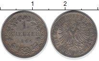 Изображение Монеты Франфуркт 1 крейцер 1866 Серебро XF