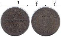 Изображение Монеты Германия Нассау 3 крейцера 1834 Серебро VF