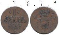Изображение Монеты Германия Шаумбург-Липпе 1 пфенниг 1798 Медь XF