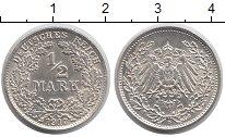 Изображение Монеты Германия 1/2 марки 1917 Серебро UNC-