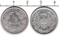 Изображение Монеты Германия 1/2 марки 1905 Серебро UNC-