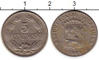 Изображение Монеты Венесуэла 5 сентим 1953 Медно-никель XF