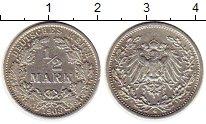Изображение Монеты Германия 1/2 марки 1908 Медь XF