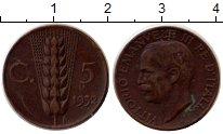 Изображение Монеты Италия 5 сентесим 1932 Медь XF