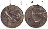 Изображение Монеты Италия 20 сентесим 1908 Медно-никель XF