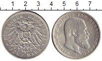 Изображение Монеты Германия Вюртемберг 5 марок 1898 Серебро XF
